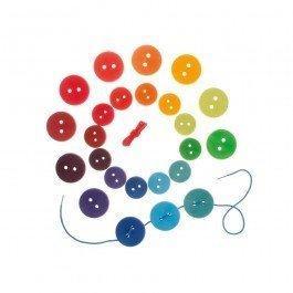 Jeu de laçage grands boutons colorés de Grimm's