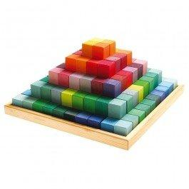Maxi pyramide colorée à construire de Grimm's