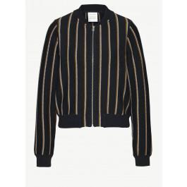 Loja Vertical Stripes Black Off White Gold Yellow