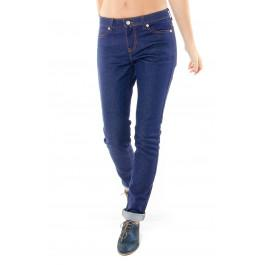 Jeans 203 coupe droite ajustée brut en coton bio Made in France -