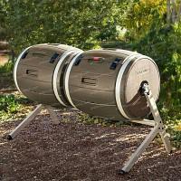 Composteur rotatif à double compartiments - 380 litres