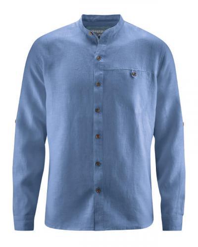 Chemise homme col Mao 100% chanvre Nouveaux coloris!
