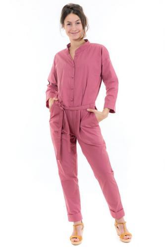Combi pantalon saharienne rose brique