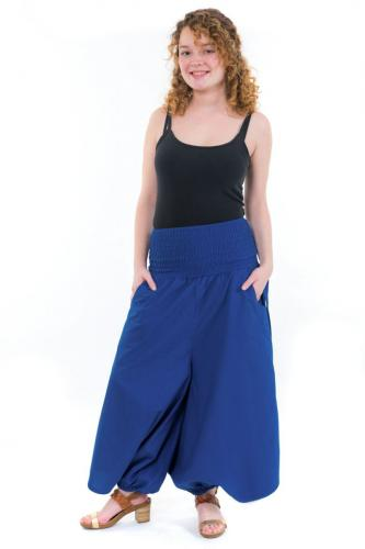 Sarouel jupe-culotte femme bleu roi