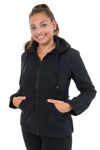 Veste zip capuche noire Taz