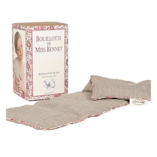 Bouillotte de Miss Bennet en lin naturel - 15 x 47 cm