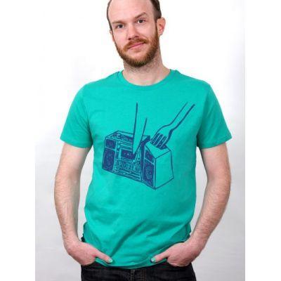 Tee-shirt vert Eat Music