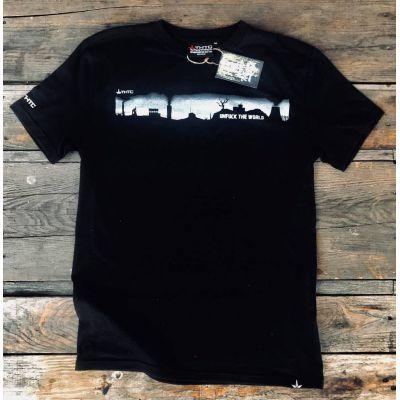 Tee shirt chanvre et coton bio Noir Unfuck the world