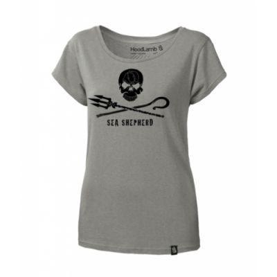 Tee shirt gris en chanvre femme Sea Shepherd