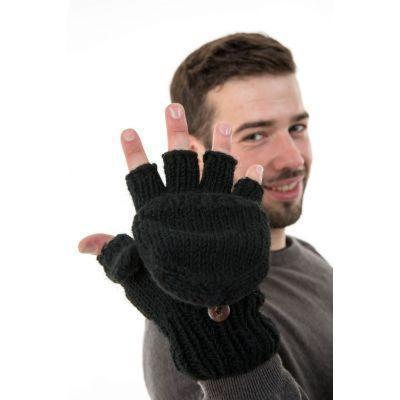 Gants 2 en 1 en laine doublés pour homme