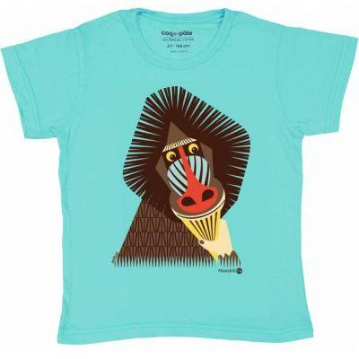 T-shirt coton bio mandrill