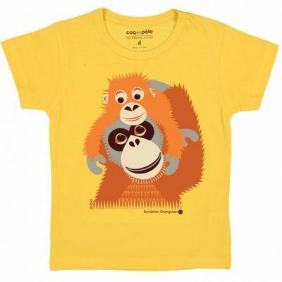 T-shirt coton bio orang-outan