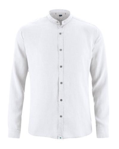 Chemise col mao ajustée
