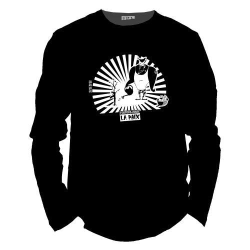 """T shirt coton bio équitable DAKAR """"Foutons-nous la paix"""""""