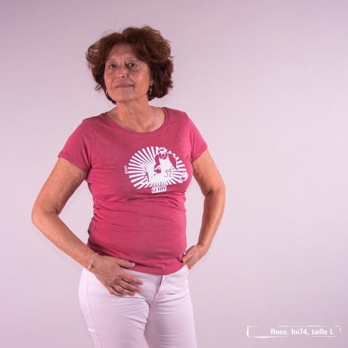 T-shirt équitable coton bio JALNA  Foutons-nous la paix