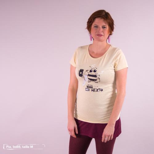 T-shirt équitable coton bio JALNA  Do you wanna bee
