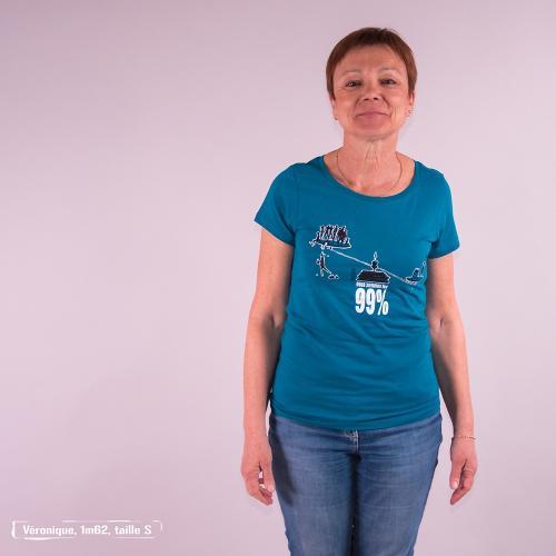 """T-shirt équitable coton bio JALNA """"99 pour 100"""""""