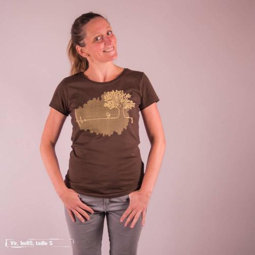 """T-shirt équitable coton bio JALNA """"LiGne de vie"""""""