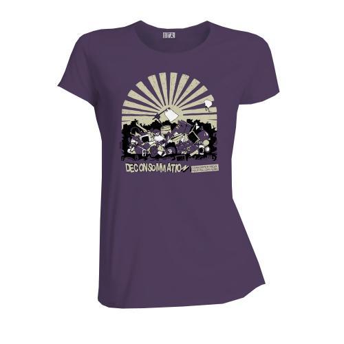 """T-shirt équitable coton bio JALNA """"Déconsommation"""""""