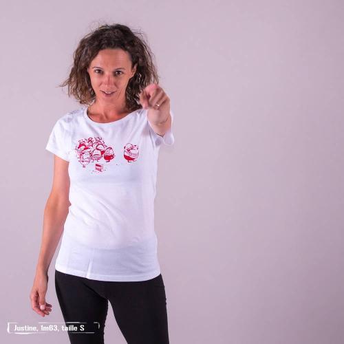 """T-shirt équitable coton bio JALNA """"La part du gâteau"""""""