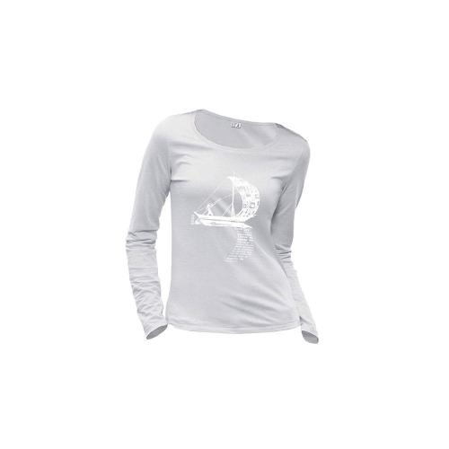 "T-shirt coton bio éthique NALIYA ""D'un seul souffle"""