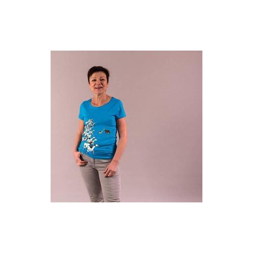 """T-shirt équitable coton bio JALNA """"Les vaches"""""""