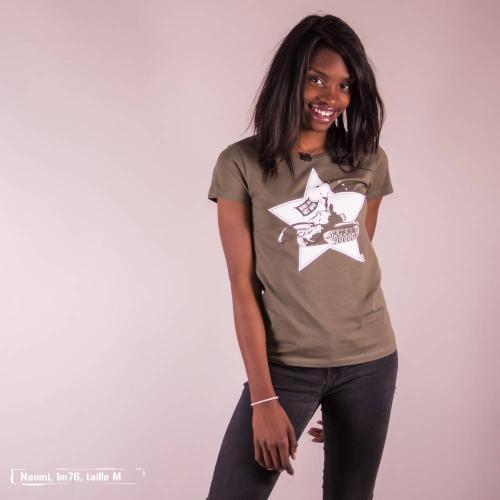 """T-shirt équitable coton bio JALNA """"Make love"""""""