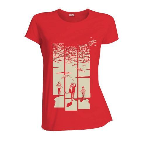 """T-shirt équitable coton bio JALNA """"Jeux de guerre"""""""