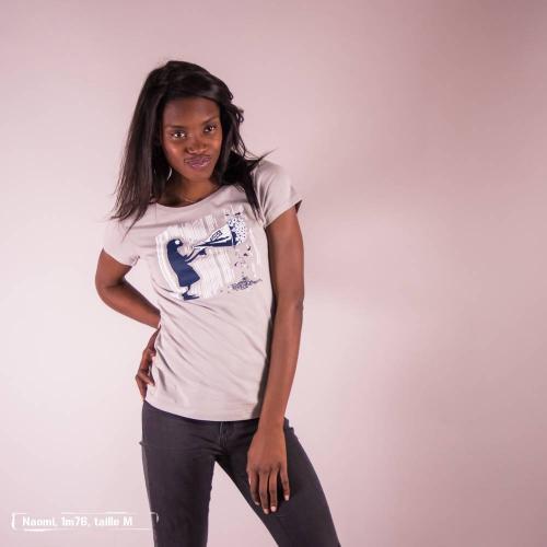 """T-shirt équitable coton bio JALNA """"Le prix du silence"""""""