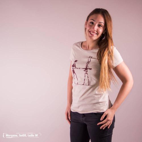 """T-shirt équitable coton bio JALNA """"Haut les mains"""""""
