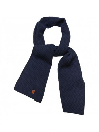 Zig zag scarf - Total eclipse - Knowledge Cotton Apparel