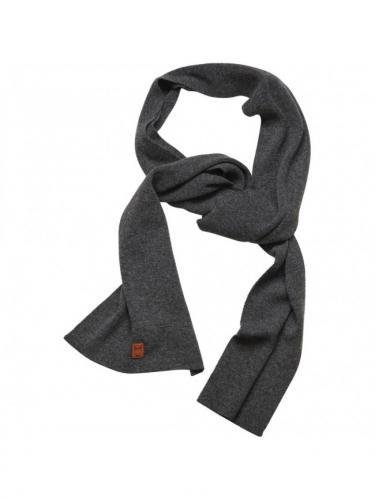 Scarf organic wool - Dark grey melange - Knowledge Cotton Apparel