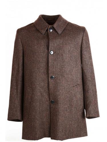 Heavey wool - Brown - black herringbone - La Paz