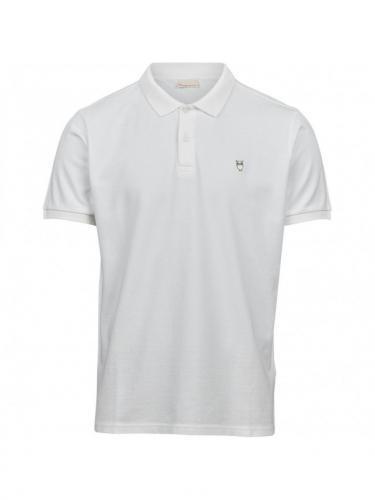 Pique polo - Bright white - Knowledge cotton apparel