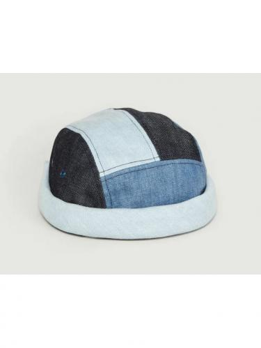 Miki 5 panels patchwork - Denim - Béton ciré