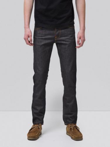 Jean droit brut coton bio - grim tim dry open navy - Nudie Jeans