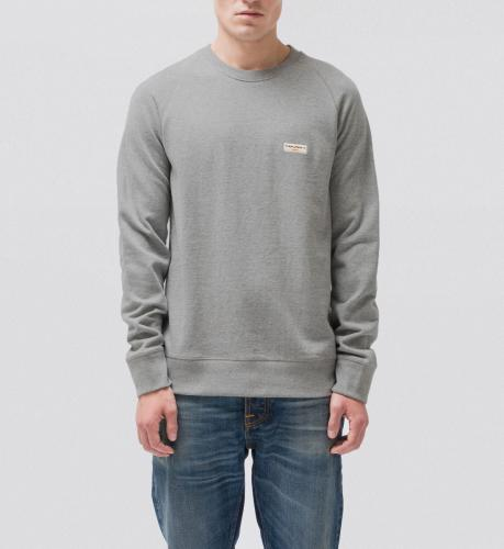 Sweat gris en coton bio - samuel - Nudie Jeans