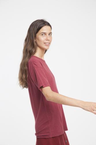 T-shirt en chanvre rouge