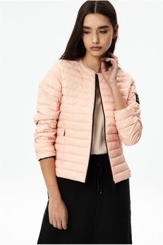 Doudoune rose pâle en nylon recycle? - usuahia