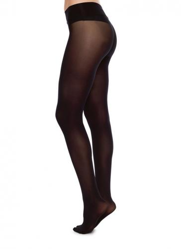 Collants sans coutures 40 deniers noirs recyclés - hanna - Swedish Stockings