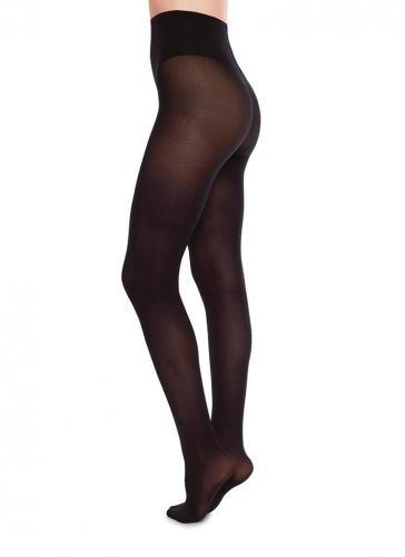 Collants à motifs 40 deniers noirs recyclés - nina - Swedish Stockings