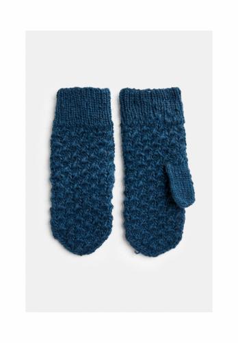 Moufles en laine bleue