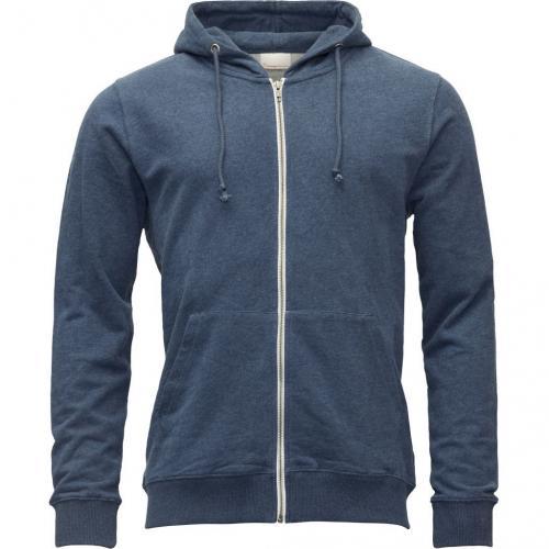 Veste zippée bleue en coton bio - Knowledge Cotton Apparel