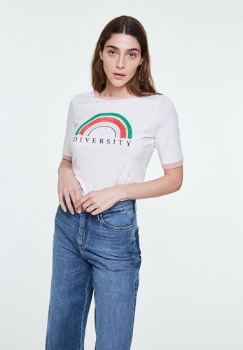 T-shirt imprimé blanc en coton bio - emmaa diversity