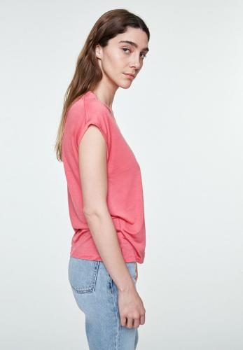 T-shirt uni rose en tencel - jilaa