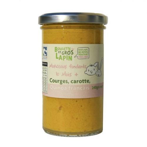 Petit pot Courge Carotte Quinoa 10 mois