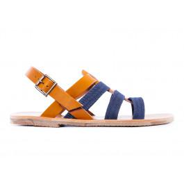 Sandales 926 avec attache naturel bleu -