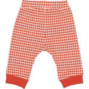 Leggings en coton bio bébé rouge avec motif