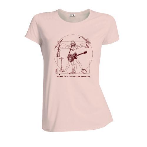 """T-shirt équitable coton bio JALNA """"Armes de Distraction Massive"""""""