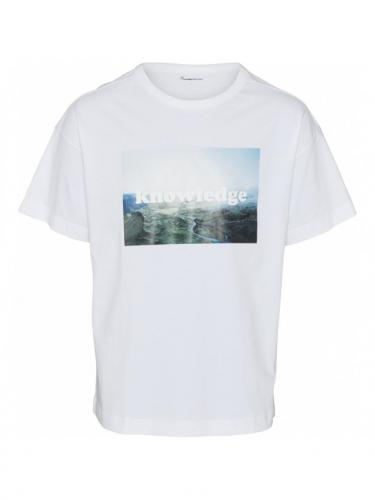 T-shirt Oversized photo - GOTS-Vegan - Bright White - Knowledge cotton apparel